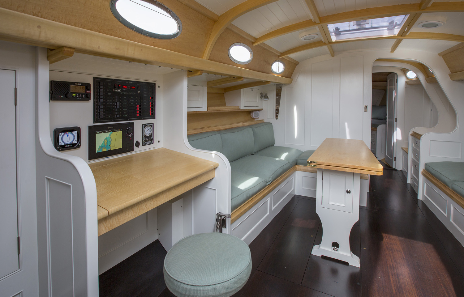 Dreadnought Sailing Yacht, Interior Photo, Brooklin Boat Yard