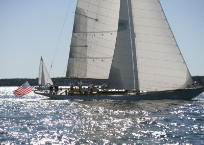 Sailing Wild Horses, a W76, Spirit of Tradition Racing Sloop