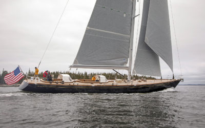Brooklin Boat Yard Launches SONNY III, Custom 91-foot Sloop