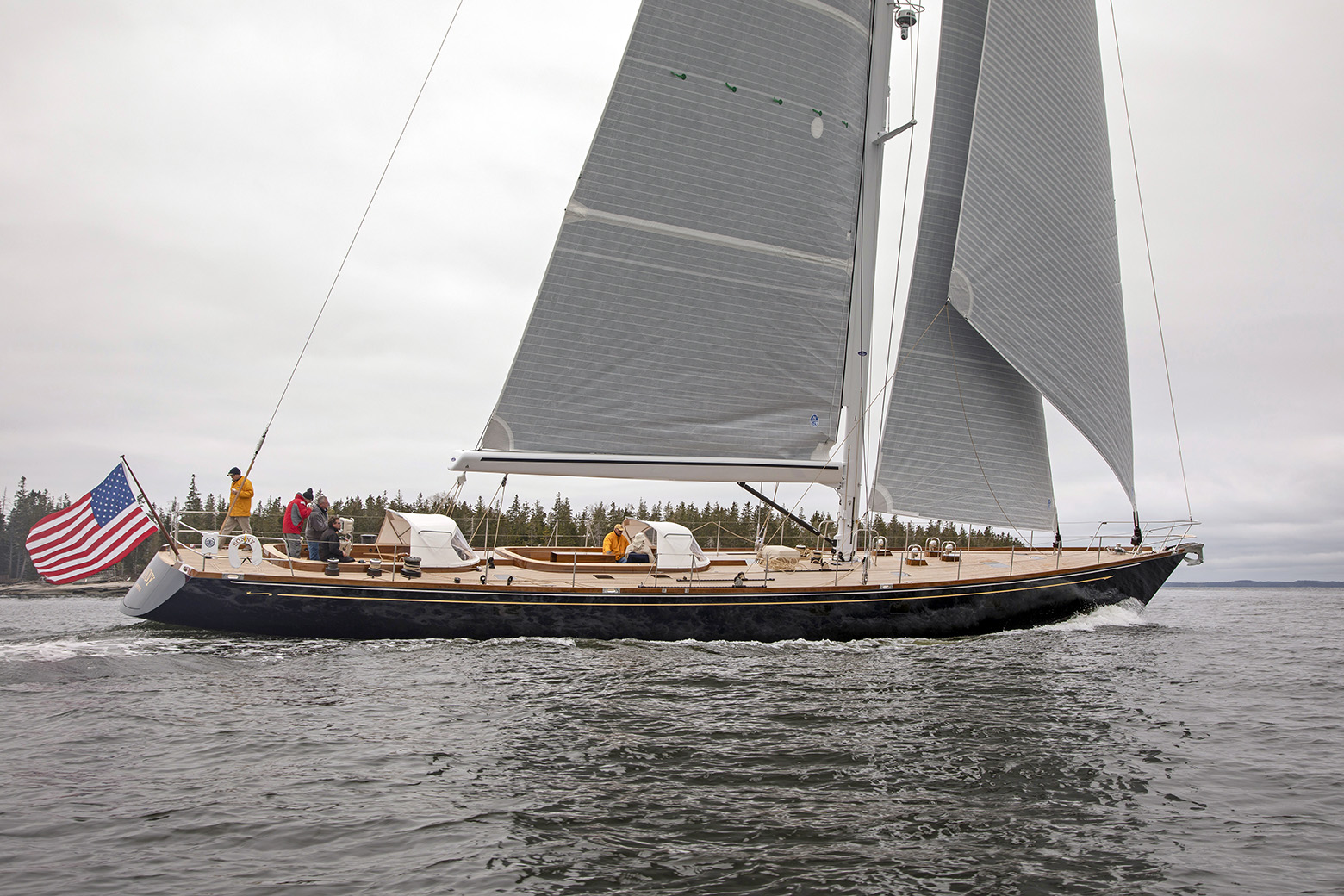 Sonny III, 91-foot Bruce Johnson design built by Brooklin Boat Yard.